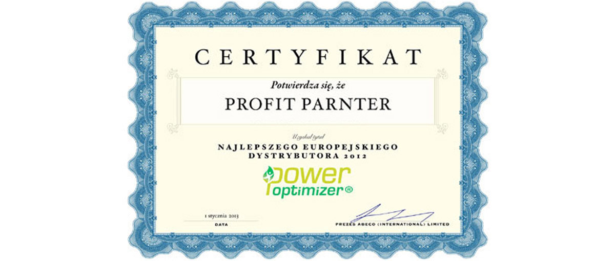 Power Optimizer Profit Partner